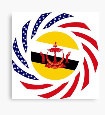 Bruneian American Multinational Patriot Flag Series Canvas Print
