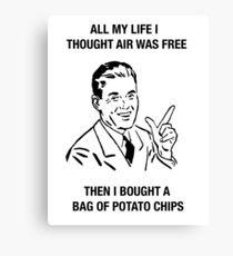 chips retro funny humor sarcasm tees shirt Canvas Print