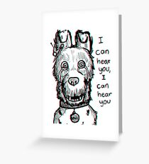Spots Isle of Dogs Greeting Card