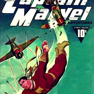 Retro WW2 Fawcett Cover SUPERHERO GOLDEN AGE by MaskedMarvel