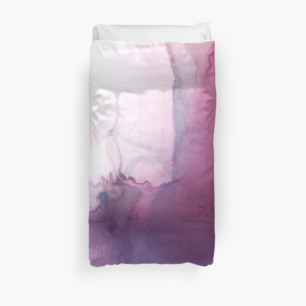 Violet and Pink Abstract Painting Duvet Cover