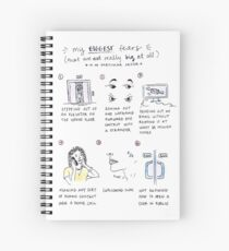 fears comic Spiral Notebook