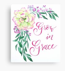 Grow in Grace Canvas Print