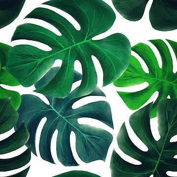 Tropical Monstera Leaf Pattern by crazycanonmom