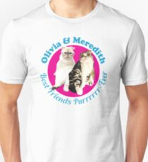 Olivia & Meredith Best Friends Purrrever Unisex T-Shirt