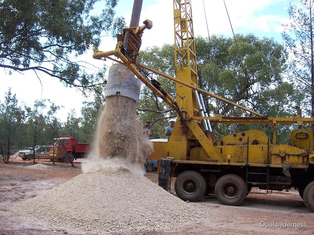 Opal Mine Shaft Drilling by Opalwilderness