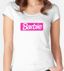 Barbie - Dope Rectangle Logo  Women's Fitted Scoop T-Shirt
