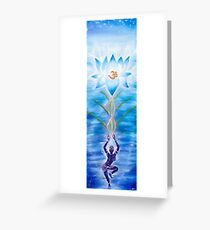Meditating Lotus Greeting Card