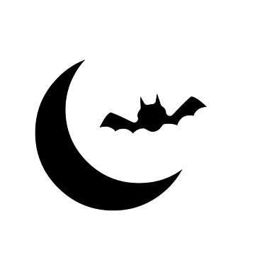 Cool Moon Bat by mydesignontrack