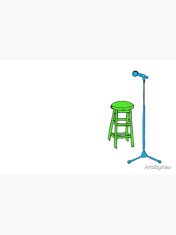 Enjoyable Stand Up Comedy Stool And Mic Laptop Skin Gmtry Best Dining Table And Chair Ideas Images Gmtryco