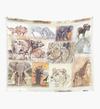 Lodge décor - South Africa's wildlife wonders Wall Tapestry