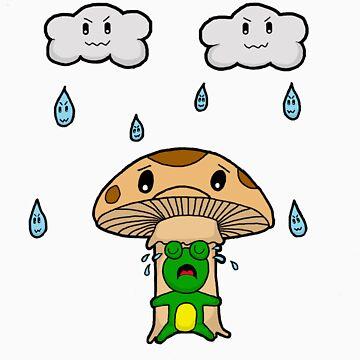 sad frog by happyartist