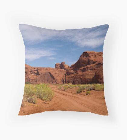 I Will Go Where The Road Leads Me Throw Pillow