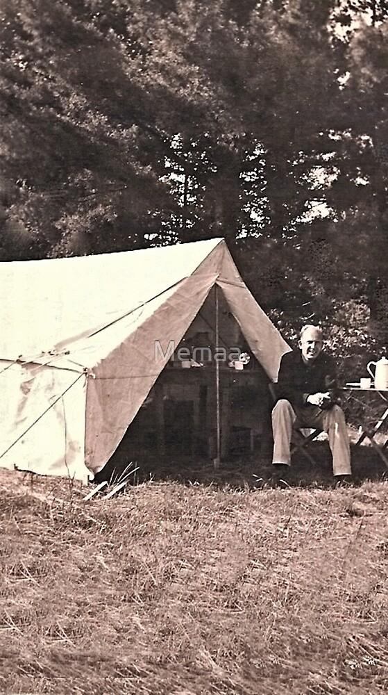 My Dad Camping, Charles C. Searles by Memaa