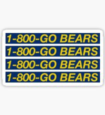 1-800-GOBEARS Sticker