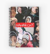 Lil Xan XANARCHY  Spiral Notebook
