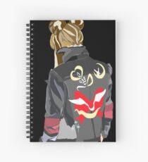 Headed back, Angel Spiral Notebook