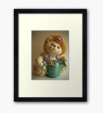 'Bear cookie jar' Framed Print