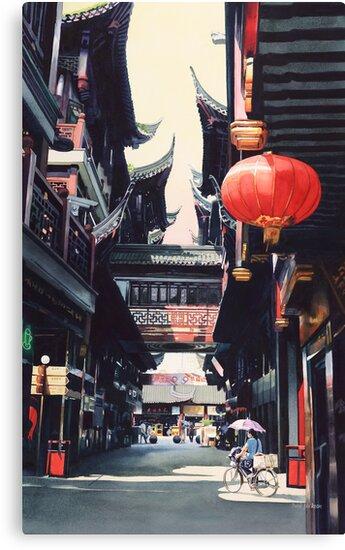 """Shanghai Market"" Watercolor by Paul Jackson"
