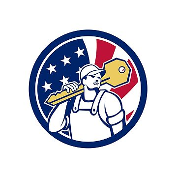 American Locksmith USA Flag Icon by patrimonio