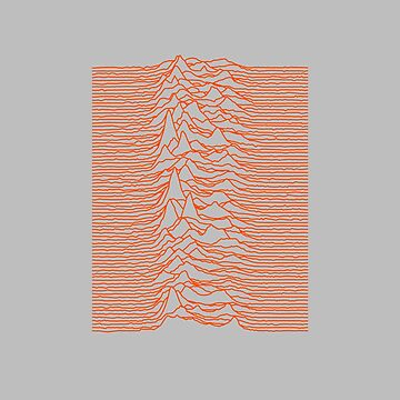 Joy Division - Unknown Pleasures [Orange Lines] by hein77