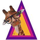 « Girafe humour triangle violet » par PerenArt