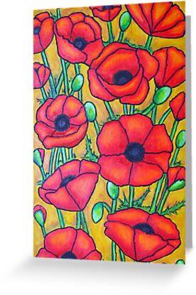 Poppies I by LisaLorenz