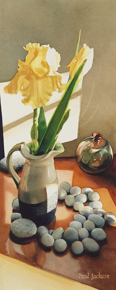 """""""MaryBum's Iris"""" Watercolor by Paul Jackson"""