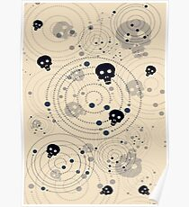 Galaxy Skull Poster