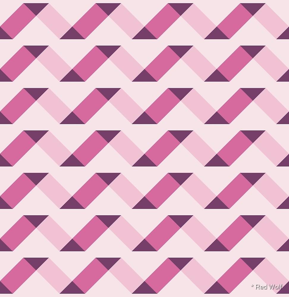 Geometric Pattern: Spiral: Blush by * Red Wolf
