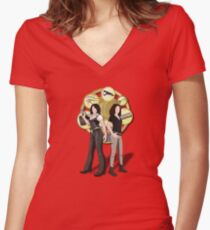 Solving Puzzles, Saving the day. Women's Fitted V-Neck T-Shirt