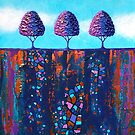 Tiny Purple Treescape no.1 by Lisafrancesjudd