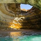 Natural Oculus - Inside the Iconic Algar de Benagil Sea Cave in Algarve Portugal by Georgia Mizuleva