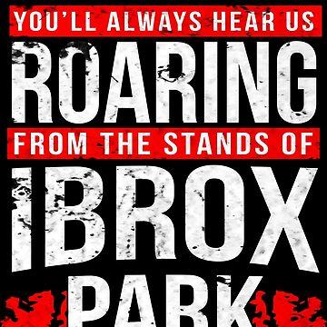 Glasgow Rangers Ibrox Roar (Distressed Look) by trueblueapparel