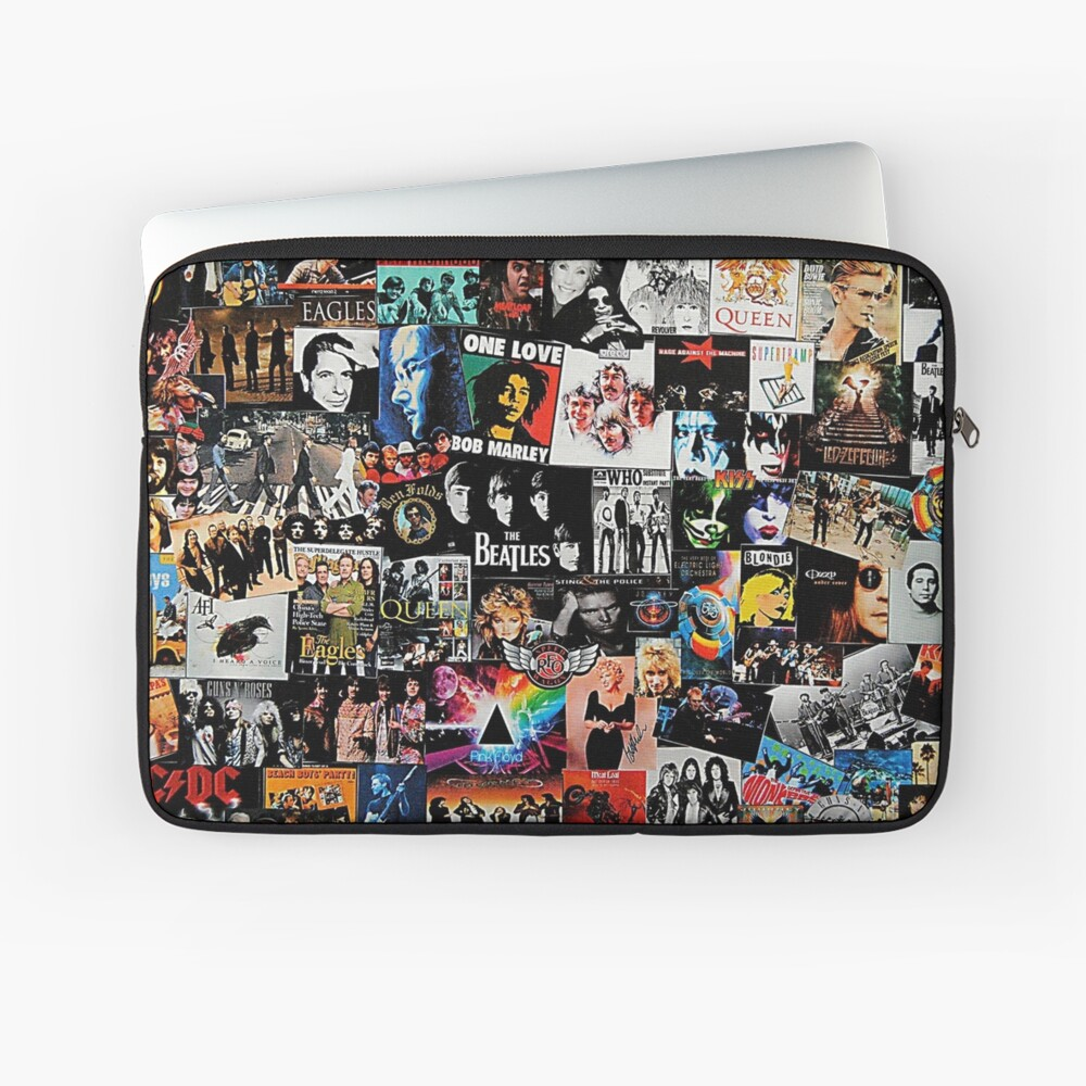 Rock Collage Laptop Sleeve
