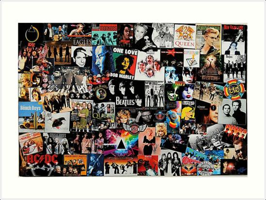 «Collage de rock» de Tiltedgiraffes
