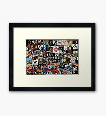 Rock Collage Framed Print