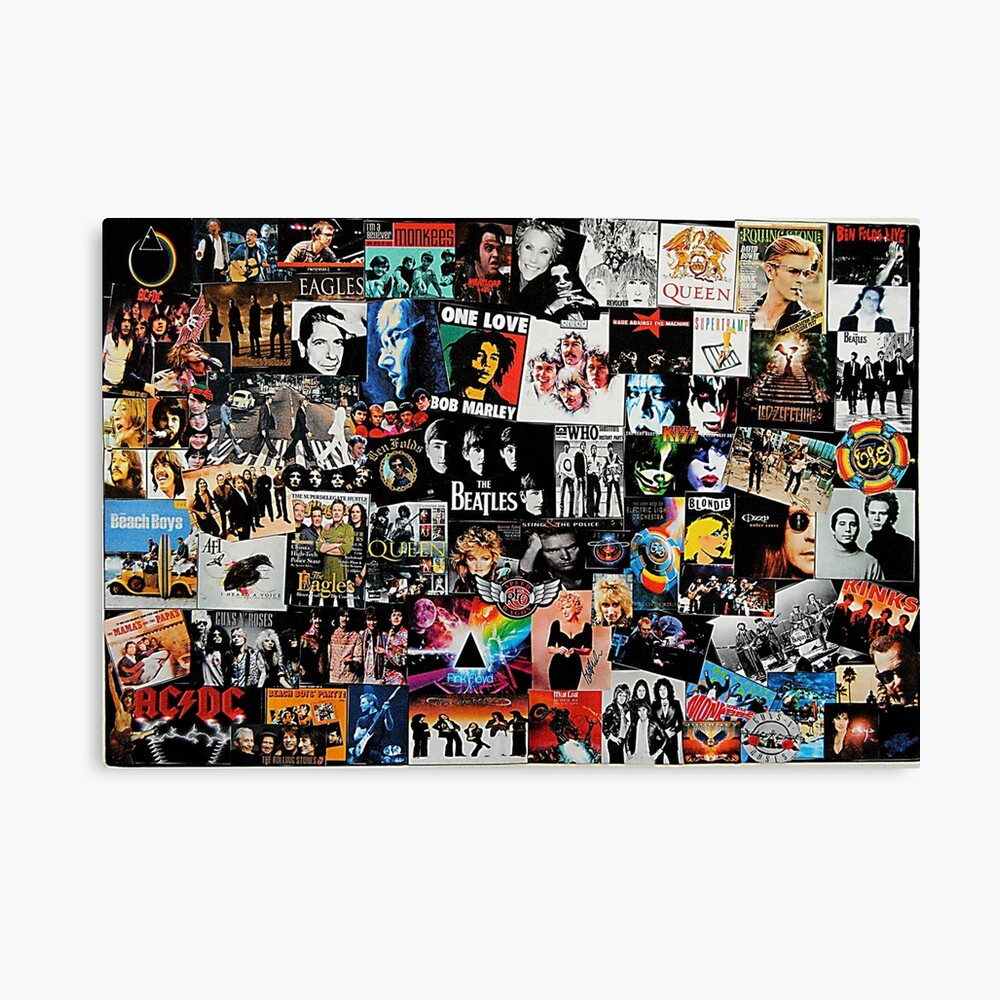 Rock Collage Canvas Print