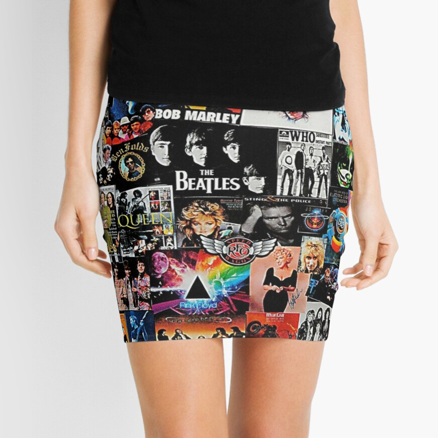 Rock Collage Mini Skirt