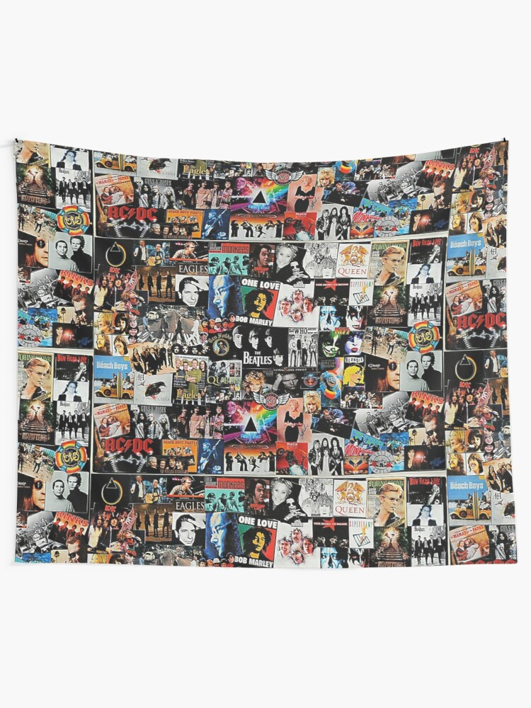 Alternate view of Rock Collage Tapestry