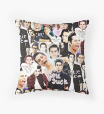 Dylan O'Brien Collage #4 Throw Pillow