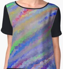 Crystallized Water Colors. Chiffon Top