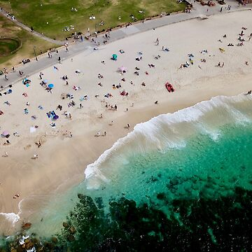 An aerial shot of Bronte Beach in Sydney Australia  by The-Drone-Man