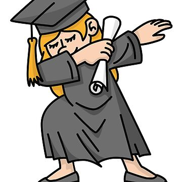 Girl student dab dabbing graduation school by LaundryFactory