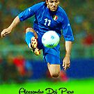 ALESSANDRO DEL PIERO LEGENDARY FOOTBALL PLAYER JUVENTUS ITALIA SUPER COOL POSTER by westox