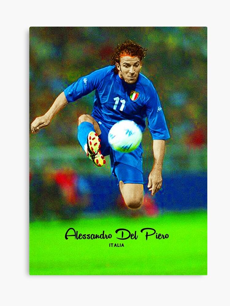 cc6f7b65e01 ALESSANDRO DEL PIERO LEGENDARY FOOTBALL PLAYER JUVENTUS ITALIA SUPER COOL  POSTER Canvas Print