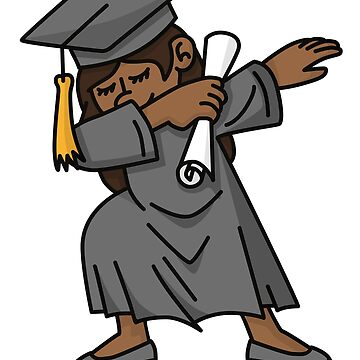 Black girl student dab dabbing graduation school by LaundryFactory