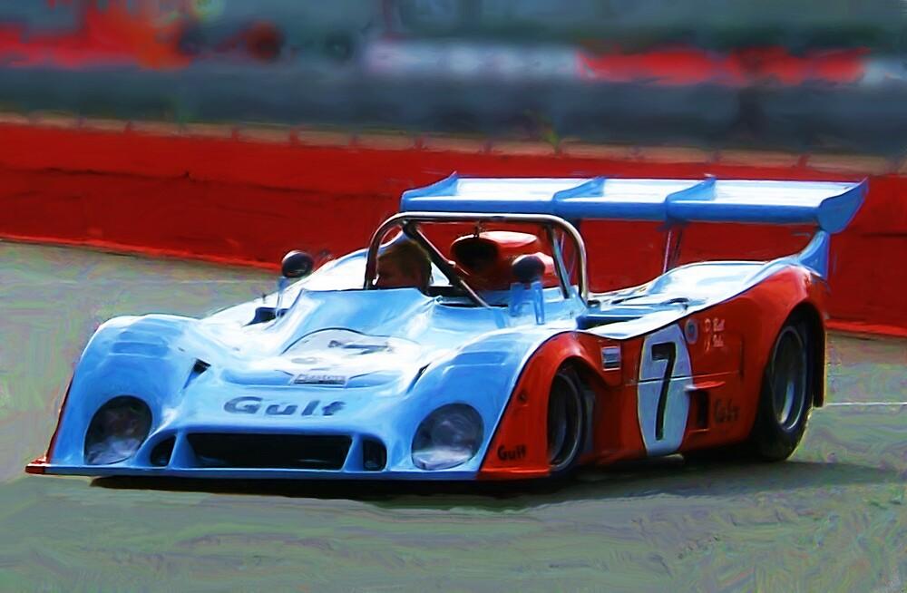 Racing Car Painting by jpgilmore