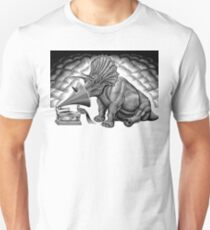 Triceratops and phonograph Unisex T-Shirt