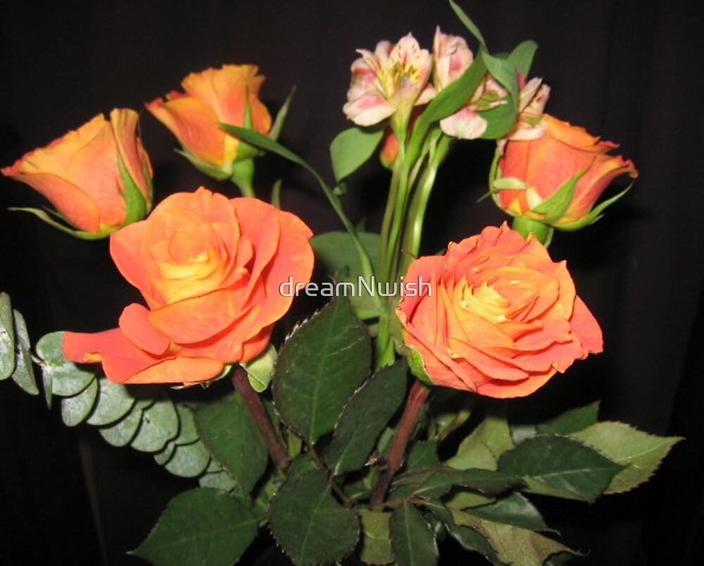 Orange Roses (3) by dreamNwish
